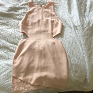 Pink cut out cocktail dress